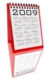blanc de bureau de 2009 calendriers Images libres de droits