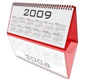 blanc de bureau de 2009 calendriers Photo libre de droits
