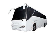 blanc de bus Photographie stock