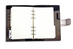 Blanc de cahier de laiterie ouvert Photographie stock