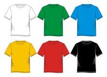 blanc de calibres de T-shirt coloré Image libre de droits