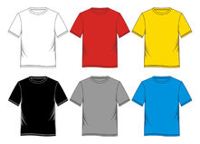 blanc de calibres de T-shirt coloré Photos stock