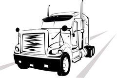 blanc de camion de fond illustration de vecteur