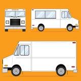 Blanc de camion de nourriture Image stock