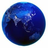 Blanc de carte de l'Asie d'isolement illustration libre de droits