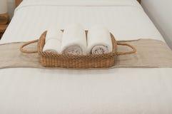 Blanc de chambre à coucher Photographie stock