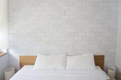 Blanc de chambre à coucher Photos libres de droits