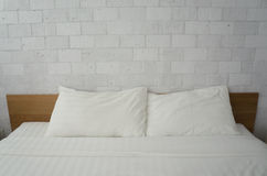 Blanc de chambre à coucher photo libre de droits