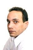blanc de chemise d'homme Photo stock
