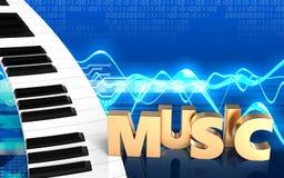 blanc de clavier de piano 3d Photos libres de droits