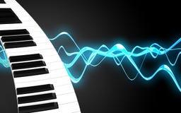 blanc de clavier de piano 3d Photographie stock libre de droits