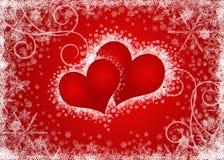 Blanc de coeurs de Valentines Photo libre de droits