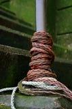 blanc de corde rouge Photos libres de droits