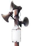 blanc de cru de haut-parleurs d'isolement par fond Photo stock