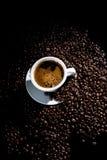 blanc de cuvette de café Image stock