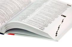 blanc de dictionnaire de fond Image libre de droits