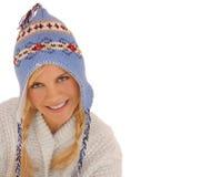 Blanc de femme de l'hiver Photo stock