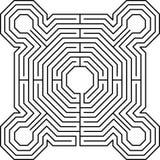 Blanc de forteresse de labyrinthe Images stock