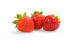 blanc de fraise de fond Photographie stock libre de droits
