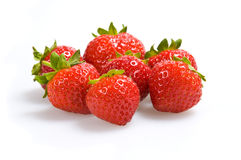 blanc de fraise de fond Images libres de droits