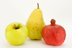 blanc de fruit frais de backgroun Photos libres de droits