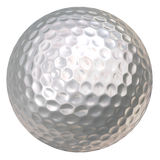 blanc de golf de bille Photographie stock