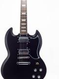 blanc de guitare électrique de fond Photos libres de droits