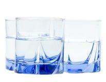 blanc de l'eau d'isolement par glace Photos libres de droits