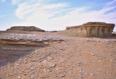 blanc de l'Egypte de désert Images stock