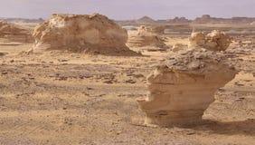 blanc de l'Egypte de désert Photographie stock