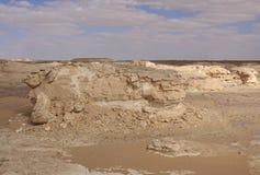 blanc de l'Egypte de désert Photos libres de droits
