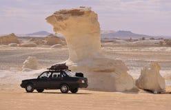 blanc de l'Egypte de désert Images libres de droits