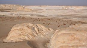 blanc de l'Egypte de désert Photo stock