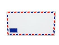 Blanc de lettre d'envelopemnt Image stock