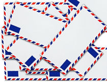 Blanc de lettre d'envelopemnt Images stock