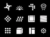 Blanc de logo Images libres de droits
