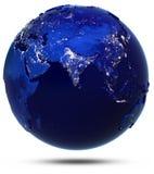 Blanc de lumière de ville de la terre de planète d'isolement illustration libre de droits