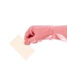blanc de main de carte Image libre de droits