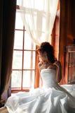 Blanc de mariée de jour du mariage Photos stock