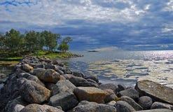 blanc de mer de la Russie Photos libres de droits