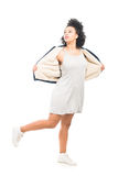 blanc de modèle de mode de fond Photo stock