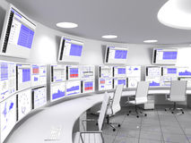 Blanc de Network Operations Center Images stock