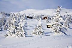 blanc de Noël de 2 cabines Images libres de droits