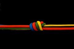 blanc de noeud d'isolement par cordon de fond Image libre de droits