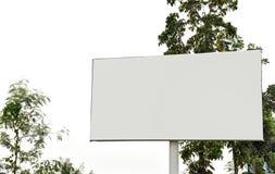 Blanc de panneau d'affichage pour l'affiche de publicité extérieure photographie stock