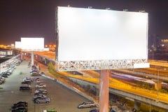 blanc de panneau d'affichage pour l'affiche de publicité extérieure ou billboar vide Photographie stock libre de droits