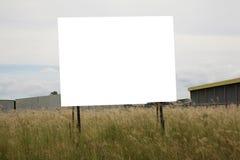 blanc de panneau-réclame image libre de droits