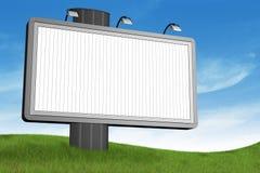 blanc de panneau-réclame Photographie stock libre de droits