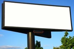 blanc de panneau-réclame de publicité Photos libres de droits