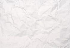blanc de papier écrasé de texture Photo libre de droits